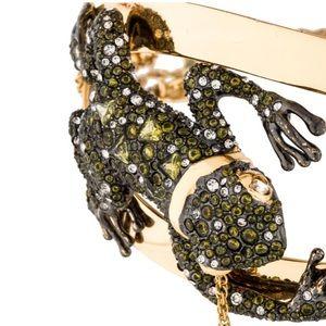 Alexis Bittar🐸RARE Crystal Pave Frog Choker Gold